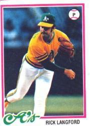 1978 Topps 327 Rick Langford DP RC