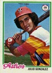 1978 Topps 389 Julio Gonzalez RC