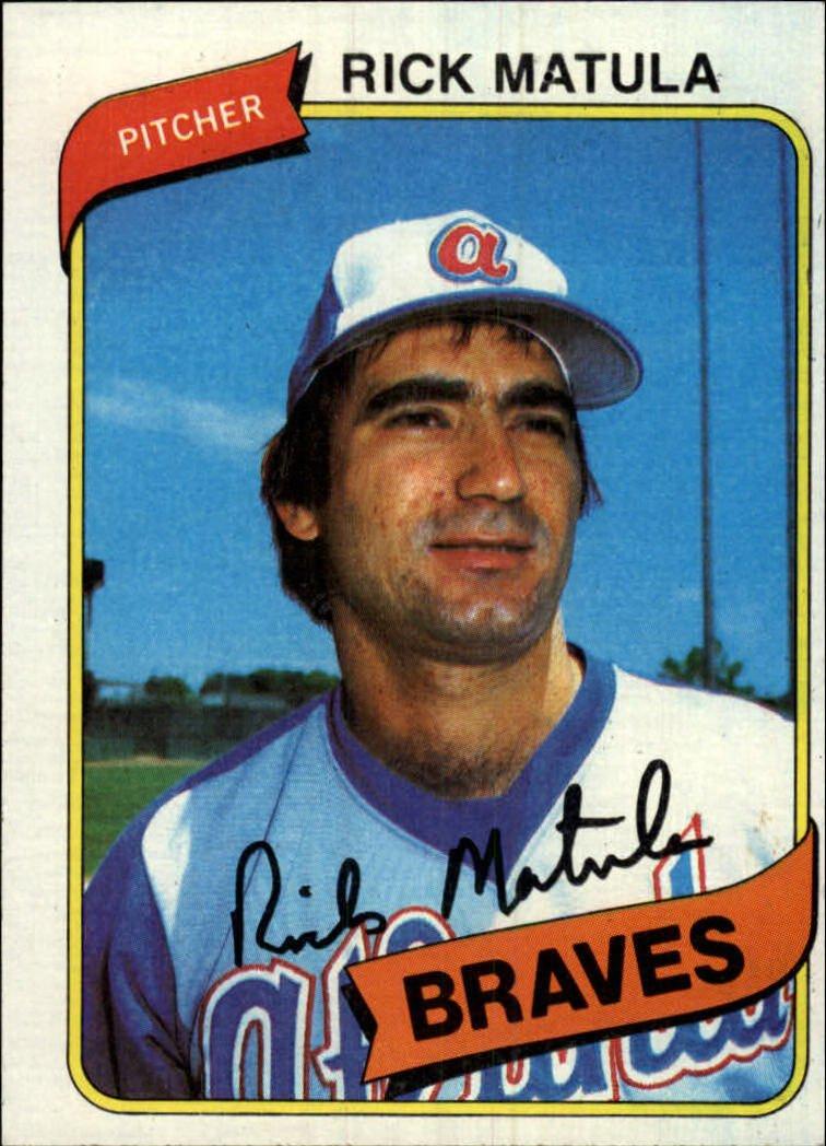 1980 Topps 596 Rick Matula RC