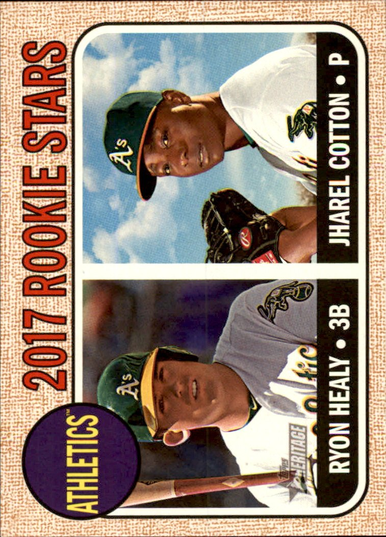 2017 Topps Heritage 199 Jharel Cotton RC/Ryon Healy RC