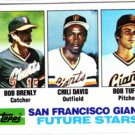 1982 Topps 171 Bob Brenly RC/Chili Davis RC/Bob Tufts RC