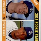 2015 Topps Heritage 49 Cory Spangenberg RC/Rymer Liriano RC