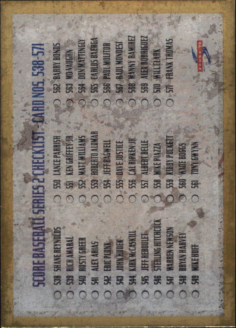 1995 Score Gold Rush 605 Checklist