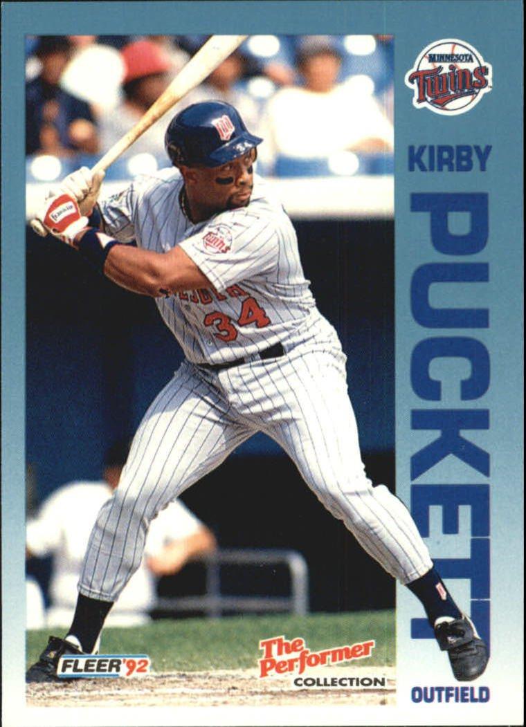 1992 Fleer Citgo The Performer 11 Kirby Puckett