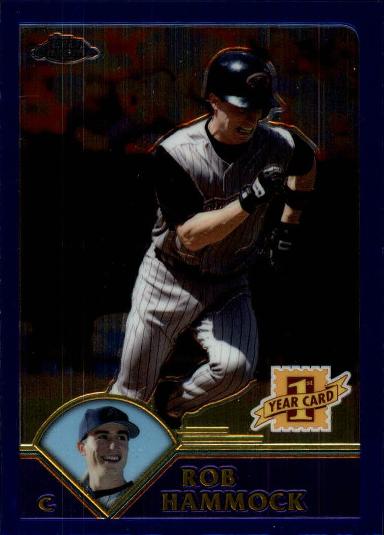 2003 Topps Chrome Traded T189 Rob Hammock FY RC