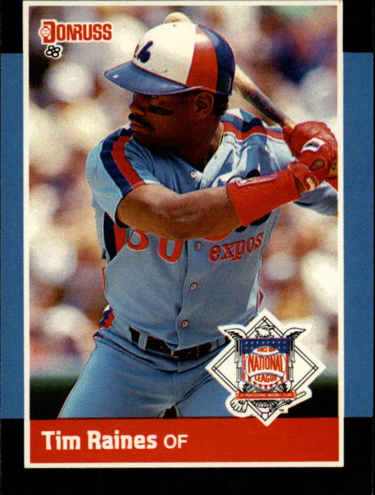 1988 Donruss All-Stars 57 Tim Raines