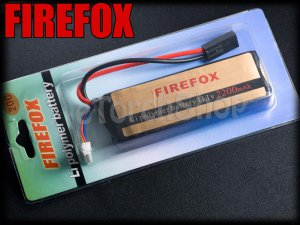 FireFox 11.1V 2200mAh 20C Li Po AEG Airsoft Battery 103mm x 34mm