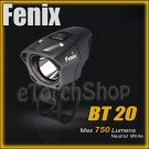 Fenix BT20 Cree Led 750 LmDual Distance Beam Bike Flashlight W 4x CR123A Battery