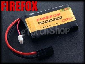 FireFox 7.4V 1300mAh 20C Li Po AEG Airsoft Battery S 66mm x 42mm