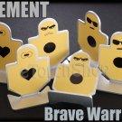 Element 6 Pieces Metal Target Brave Warrior Dartboard f Airsoft paintball EX118
