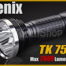 Fenix TK75 Cree 3x XM-L U2 LED 2600 LM 6Mo Flashlight Outdoor searching Torch