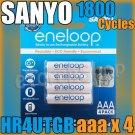 SANYO 3rd Eneloop 4 aaa HR-4UTGB-4H 800mAh Rechargeable PreCharged NiMH Battery