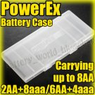 4 x PowerEx Plastic Battery Carrying Case Holder f 8-cell AA aaa Sanyo Eneloop