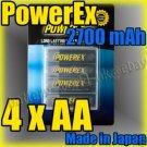 Maha PowerEx 4x AA 2700 mAh Rechargeable Ni-MH Battery & Case