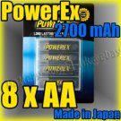 Maha PowerEx 8 AA 2700 mAh Rechargeable Battery & Case