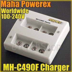 Maha PowerEx MH-C490F 4 Bank 2 Hour Fast 9 Volt Charger