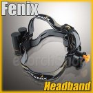 Fenix Adjustable Elastic Headband w Battery Holder for 18-22mm Flashlight Torch
