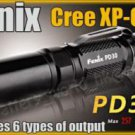 Fenix PD30 Cree R5 LED 257 LM 2 Mode Flashlight Torch