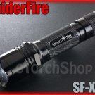 SpiderFire X03 Black Cree XM-L U2 LED 5Mo 900LM CR123A 18650 Flashlight Torch