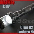 SpiderFire X-6V Cree U2 LED 5 Mode 900LM Max Flashlight + Lantern Head Torch Set