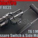 SpiderFire X03S Cree T6 LED 750LM Flashlight W 20mm Mount / Pressure Switch Set
