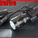UltraFire WF 503A Cree Q5 LED Pressure Switch 20mm Mount Flashlight Airsoft Set