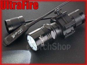 UltraFire WF 503A Cree Q5 LED Pressure Switch 20mm Mount Flashlight Airsoft Set