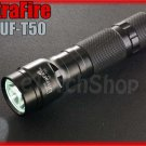 UltraFire T50 Cree T6 LED Digital Control Magnetic Bottom Flashlight w Holster