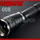 Conqueror UltraFire MX-008 Cree LED Recoil Square Beam Long Throw Flashlight