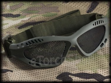 Airsoft Tactical Protection Mesh Glasses Goggle S Green