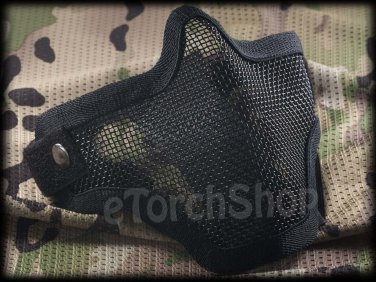 Airsoft Tactical Protection Steel Face Mask S Black