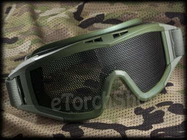Airsoft Tactical Protection Mesh Glasses Goggle Lens Gr