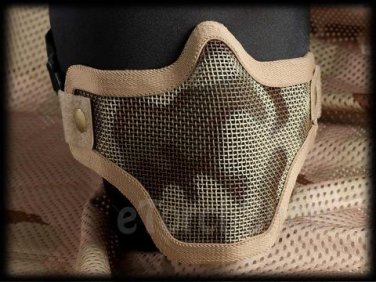 Protection Steel Face Mask S Desert Tan Camouflage