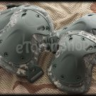 Knee & Elbow Protection X-Tak Pads Set Green Camouflage