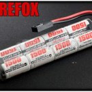 FireFox 9.6V 1500mAh Ni-MH AEG Airsoft CQB/R Battery RC