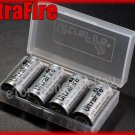 UltraFire 4 x 16340 Protected Li ion Rechargeable Battery with Case CR123A