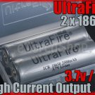 Ultrafire 2 x 18650 2500 mAh Protectd 4A Battery + Case