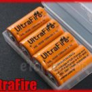 UltraFire 4x 18350 1200mAh Rechargeable Battery w Case