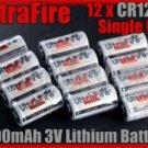 UltraFire 12 x CR123A 3V Single Use Lithium Battery 123