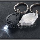 2x Super Bright LED CR2016 Battery Mini Key Chain Ring