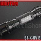 SpiderFire X-6V Flashlight DIY Body Only Black Color Without bulb LED Torch