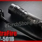 UltraFire WF 501B Flashlight DIY Body Only Black Color Without bulb LED Torch