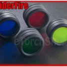 SpiderFire 4 Color Filters Lens Set Fit for 30-33mm Flashlight Torch Head