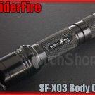 SpiderFire X03 Flashlight DIY Body Only Black *Parts f Surefire 6P 9P* LED Torch