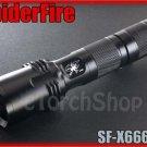 SpiderFire X666 V2 Flashlight DIY Body Only Black*Parts f Surefire* LED Torch