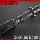 SpiderFire X666 Flashlight DIY Body Only Black*Parts f Surefire 6P 9P* LED Torch