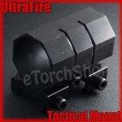 "Ultrafire Flashlight Torch Laser Tactical Mount Ring 1"""