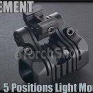 One 5 Positions Plastic Flashlight Mount 20mm Rail F Torch Laser Airsoft OT0424