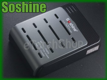 Soshine SC-S1 Max 1-4pcs Li ion Battery Charger 18650