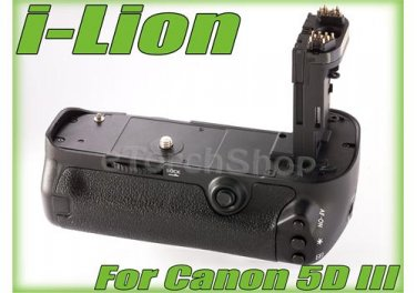 i-Lion Hand Grip For Canon EOS 5D Mark III 3 BG E11 Pack Fit LP-E6 AA Battery